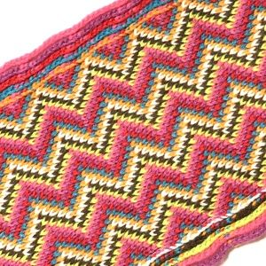 Womens Colorful Knit Scarf with Fringe Scalloped